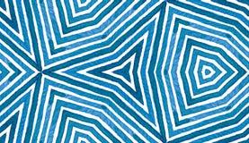 Błękitna Geometryczna akwarela bezszwowy słodkie wzoru Ręka rysujący lampasy Szczotkarska tekstura Wielki szewron O Ilustracja Wektor