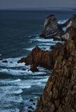 Błękitna godzina przy przylądkiem Cabo da Roca obrazy royalty free