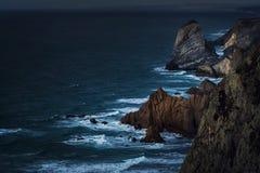 Błękitna godzina przy przylądkiem Cabo da Roca zdjęcie stock