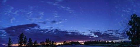 Błękitna godziny panorama Zdjęcie Royalty Free