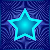 Błękitna gwiazda - cyfrowy projekt Obraz Royalty Free
