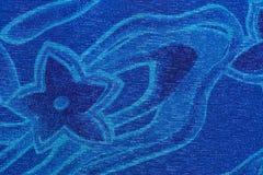 Błękitna gwiazda i falowy wzór Obrazy Stock
