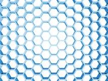 Błękitna honeycomb struktura odizolowywająca na bielu royalty ilustracja