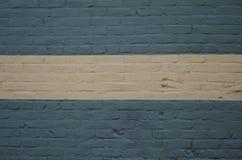 Błękitna i Biała ściana z cegieł tła tekstura Obrazy Royalty Free