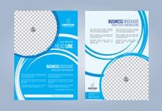 Błękitna i Biała Biznesowa broszurka Zdjęcie Stock
