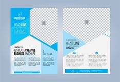 Błękitna i Biała Biznesowa broszurka Zdjęcia Royalty Free