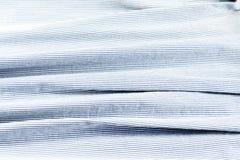 Błękitna i biała tkanina z lampasami obraz stock