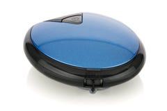 Błękitna i czarna przenośna ręczna latarka fotografia royalty free