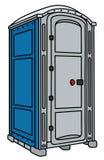 Błękitna i szara mobilna toaleta ilustracji