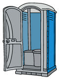Błękitna i szara mobilna toaleta ilustracja wektor