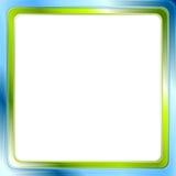 Błękitna i zielona jaskrawa rama na białym tle royalty ilustracja