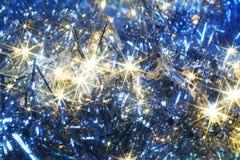 Błękitna kartka bożonarodzeniowa Zdjęcia Stock
