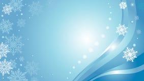 Błękitna kartka bożonarodzeniowa Obraz Royalty Free