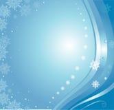 Błękitna kartka bożonarodzeniowa Zdjęcie Royalty Free
