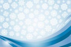 Błękitna kartka bożonarodzeniowa Fotografia Stock