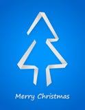 Błękitna kartka bożonarodzeniowa Obrazy Stock