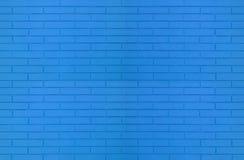Błękitna kolor ściany z cegieł tekstura dla graficznych tło wizerunków zdjęcie stock