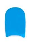 Błękitna koloru basenu kopnięcia deska na bielu Zdjęcia Royalty Free