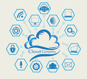 Błękitna komputer chmura Obraz Stock