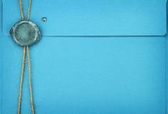 Błękitna koperta Zdjęcia Stock