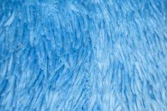 Błękitna kosmata tkanina makro- Obraz Stock
