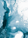 Błękitna kreatywnie abstrakcjonistyczna ręka malujący tło Obrazy Royalty Free