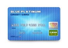 Błękitna Kredytowa karta ilustracji