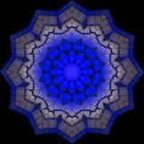 Błękitna kruszcowa gwiazdy gwiazda na królewskim błękicie Ilustracji