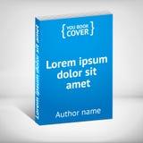 Błękitna książkowa pokrywa nad białym tłem Fotografia Stock