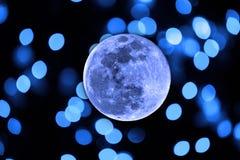 Błękitna księżyc Fotografia Royalty Free