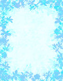 Błękitna kwiecista grunge granica Zdjęcia Royalty Free