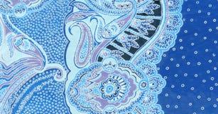 Błękitna kwiecista tkanina Fotografia Royalty Free