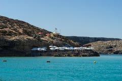 Błękitna laguna dostaje swój imię od pięknych kolorów s Fotografia Stock