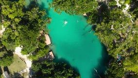 Błękitna laguna od trutnia, Port Vila, Efate, Vanuatu zdjęcie wideo