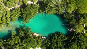 Błękitna laguna od trutnia, Port Vila, Efate, Vanuatu zbiory