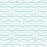 Błękitna latarnia morska, Bezszwowy wzór Obraz Stock
