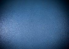 Błękitna leatherette powierzchni tekstura jako tła grung tekstura Fotografia Royalty Free