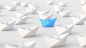 Błękitna lider łódź ilustracja wektor