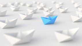 Błękitna lider łódź ilustracji