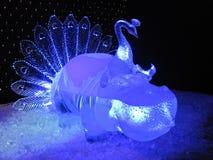 Błękitna lodowa rzeźba obrazy stock