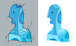 Błękitna mężczyzna sztuka royalty ilustracja