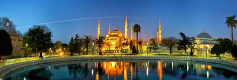 Błękitna meczetowa panorama Zdjęcie Stock