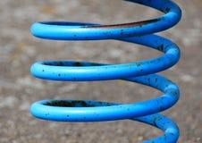 Błękitna metal wiosna z rdzą Zdjęcia Stock