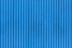 Błękitna metalu drzwi tekstura Obraz Stock