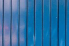 Błękitna metalu drzwi tekstura Fotografia Stock