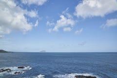 Błękitna morza, wody powierzchnia z lub Fotografia Stock