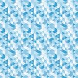 Błękitna mozaika, wektorowy bezszwowy wzór Zdjęcie Stock