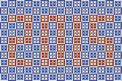 Błękitna mozaiki azulejo tekstura w Lisbon Fotografia Royalty Free