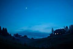 Błękitna noc Obraz Royalty Free