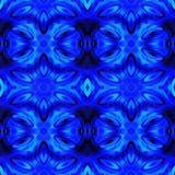 Błękitna Nowożytna Ikat Plemienna Bezszwowa Deseniowa sieć obrazy stock